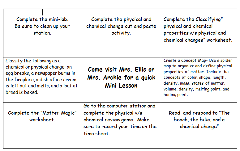 CandaceEllis October 2014 – Matter and Change Worksheet